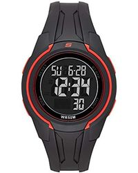 Skechers - Quartz Plastic Casual Watch, Color:black (model: Sr1111) - Lyst
