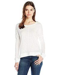 beb459e72a Lyst - David Lerner Side Lace-up Pullover Sweater in Black