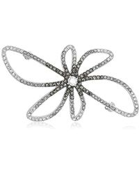 Judith Jack - Finishing Touches Sterling Silver/crystal/marcasite Ombre Flower Brooches And Pin - Lyst