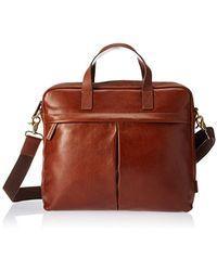 96bb607cbcaf Fossil - Buckner Leather Brief Workbag - Lyst