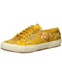 Superga 2750 Satinjaquardw Sneaker - Yellow