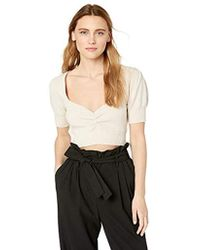 379fc9a56db4b Lyst - For Love   Lemons  florence  Crop Top in White
