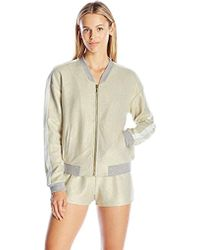 Juicy Couture - Black Label Ft Metallic Foil French Terry Jacket, - Lyst