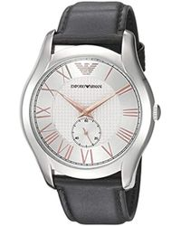3a1cad594 Emporio Armani Quartz Stainless Steel And Nylon Dress Watch, Color:black  (model: Ar80004) in White for Men - Lyst