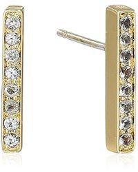 Elizabeth and James - Braque Bar Stud Earring, Gold - Lyst