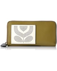 Orla Kiely - Punched Pocket Leather Big Zip Wallet Wallet - Lyst
