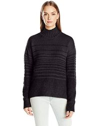 Calvin Klein - Jeans Boucle Funnel Neck Sweater - Lyst