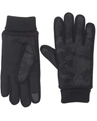 Levi's - Heathered Touchscreen Knit Glove With Stretch Palm, Black Camo Large - Lyst
