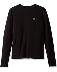 a7a8309276 Lyst - Armani Jeans Slim Fit Pima Cotton Long Sleeve T-shirt in ...
