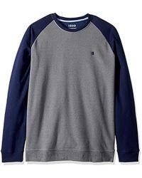 Izod - Big And Tall Advantage Performance Colorblock Fleece Soft Crewneck Pullover - Lyst