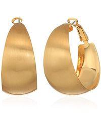 7cdcaef0d Rebecca Minkoff Chunky Tubular Hoop Earrings (gold) Earring in Metallic -  Lyst