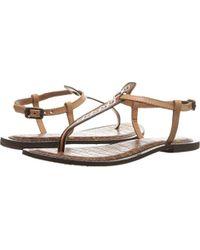 be74943f23e6 Lyst - Sam Edelman Gigi T Strap Sandals