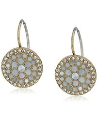 Fossil - S Vintage Glitz Crystal Drop Earrings - Lyst