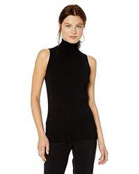 5862428d1bca0 Lyst - Anne Klein 3 4 Sleeve Turtleneck Sweater in Black