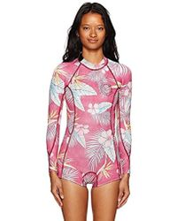 Lyst - Cynthia Rowley Light Floral High Tide Wetsuit - Cr X Goop ... 752c5e9ff