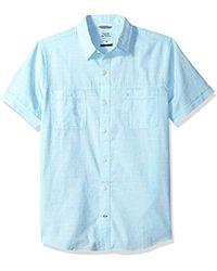 Izod - Dockside Chambray Solid Short Sleeve Shirt (regular And Slim Fit) - Lyst
