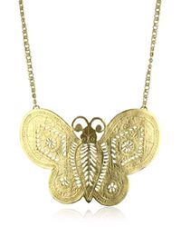 Kenneth Jay Lane - S Butterfly Necklace - Lyst