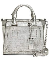 035456384 Frye Demi Satchel in Gray - Lyst