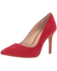 11867b2cab98 Lyst - Vince Camuto Rowin Red Ankle-high Leather Pump in Red