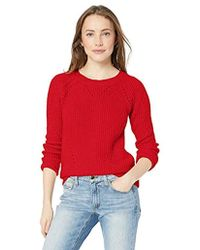 Lucky Brand - Scoop Neck Solid Pointelle Sweater - Lyst