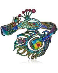 Betsey Johnson - S Oilslick Peacock Hinge Bracelet - Lyst