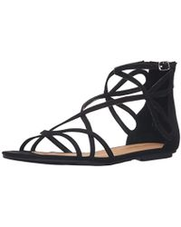 Chinese Laundry - Penny Suede Flat Sandal - Lyst