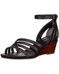 4c358c52556 Lyst - Kenneth Cole Reaction Cedar Leader Wedge Sandals in Black