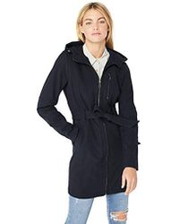 BCBGeneration - Soft Shell Center Front Zip Coat With Hood - Lyst