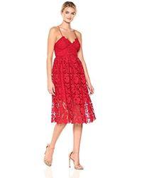Donna Morgan - Chemical Lace Spaghetti Strap Midi Dress - Lyst
