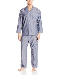 Geoffrey Beene - Long Sleeve Broadcloth Pajama Set - Lyst
