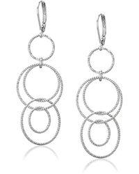 Anne Klein - Circle Around Multi-drop Earrings - Lyst