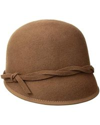 95f7b7c681f5d Nine West Felt Bolero Hat in Brown - Lyst