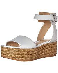 e8e1248e84b0 Lyst - Via Spiga  nemy  Platform Sandal in White