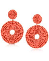 c8be7206c Kenneth Jay Lane - Seedbead Circle Drop Earrings - Lyst