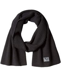Fred Perry - Unisex-adult's Waffle Knit Scarf, Black, One Size - Lyst