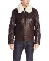 ad0bffbe1de9 Marc New York - Carmine Distressed-leather Aviator Jacket - Lyst