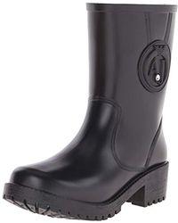 Armani Jeans - Aj Short Rain Boot - Lyst