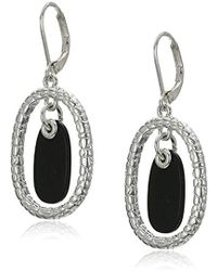 Napier - Silver-tone And Jet Orbital Drop Earrings - Lyst