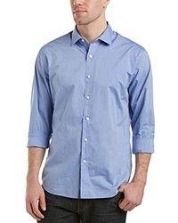 DL1961 - Long 73rd & Park Regular Fit Button Down Shirt, Blue - Lyst