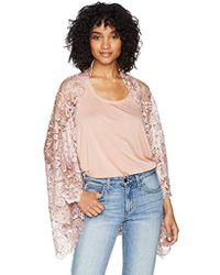 Laundry by Shelli Segal - Venise Mixed Lace Cocoon Cardigen - Lyst