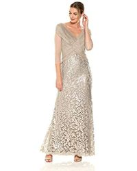 Tadashi Shoji - Mesh And Sequin Gown - Lyst