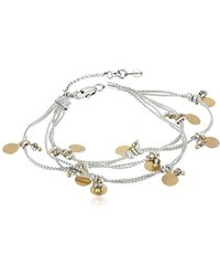 Kenneth Cole - Delicates Shaky Disc And Faceted Bead Multi-row Bracelet - Lyst