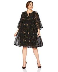 Lucky Brand - Plus Size Swiss Dot Floral Dress - Lyst