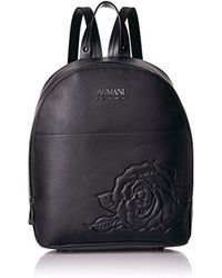 f8f9a8fc05f0 Lyst - Armani Jeans Jacquard Logo Backpack in Black