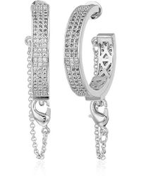 Eddie Borgo - Pave Safety Chain Hoop Earrings - Lyst