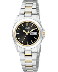 Citizen - Eq0564-59e Analog Display Japanese Quartz Two Tone Watch - Lyst