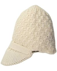 U.S. POLO ASSN. - Popcorn Beanie With Knitted Visor - Lyst