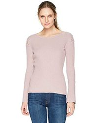 Ivanka Trump - Knit Crew Neck Bell Long Sleeve Sweater - Lyst