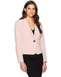 Kasper - Notch Lapel Twill One Button Jacket - Lyst