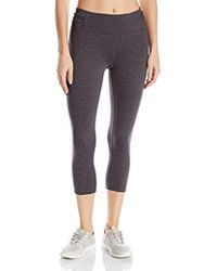 Calvin Klein - Performance Crop Tight With Leg And Side Panel Waistband Shirring - Lyst